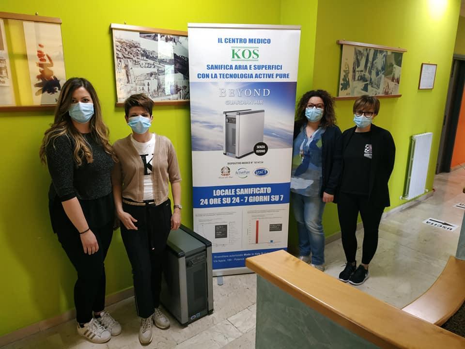 >Il Centro Medico KOS sanificato con tecnologia BEYOND Guardian Air