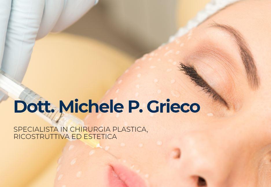 >Il Dottor Michele P.Grieco, specialista in chirurgia plastica ricostruttiva ed estetica